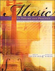 Music in Theory and Practice Volume 2 8th edition 9780073101880 0073101885