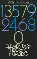 Elementary Theory of Numbers 1st Edition 9780486663487 0486663485