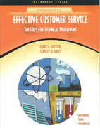 Effective Customer Service 1st Edition 9780130485298 0130485292