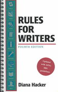 Rules for Writers 4th edition 9780312401832 0312401833