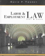 Labor and Employment Law 12th edition 9780324154849 0324154844