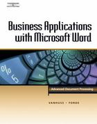 Business Applications with Microsoft Word 1st edition 9780538725491 0538725494