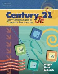 "Century 21â""¢ Jr., Input Technologies and Computer Applications 1st edition 9780538442657 0538442654"