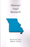 Missouri Legal Research 0 9781594603860 1594603863