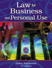 Law for Business and Personal Use 16th edition 9780538436229 0538436220