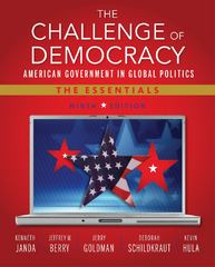 The Challenge of Democracy 9th edition 9781133602309 1133602304