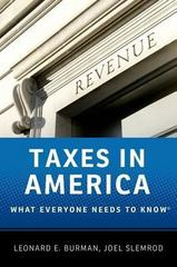 Taxes in America 1st Edition 9780199890262 0199890269