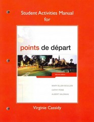 Student Activities Manual for Points de départ 2nd Edition 9780205796274 0205796273