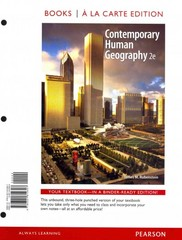 Contemporary Human Geography, Books a la Carte Edition 2nd edition 9780321819307 0321819306
