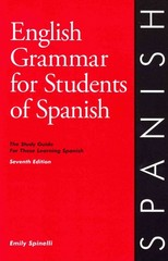 English Grammar for Students of Spanish 7th Edition 9780934034418 0934034419