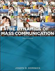Dynamics of Mass Communication: Media in Transition 12th edition 9780077434427 0077434420