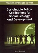 Sustainable Policy Applications for Social Ecology and Development 0 9781466615861 1466615869