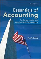 Essentials of Accounting for Governmental and Not-for-Profit Organizations 11th edition 9780078025457 0078025451