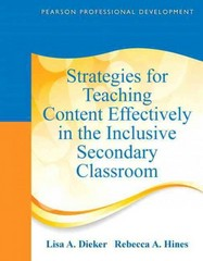 Strategies for Teaching Content Effectively in the Inclusive Secondary Classroom 1st Edition 9780132491846 0132491842
