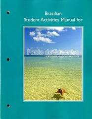 Brazilian Student Activities Manual for Ponto de Encontro 2nd Edition 9780205783465 0205783465