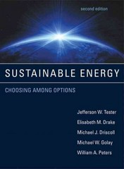 Sustainable Energy 2nd Edition 9780262017473 0262017474