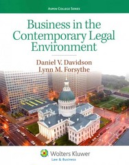 Business in the Contemporary Legal Environment 1st Edition 9781454816393 1454816392