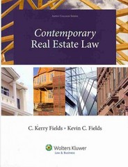 Contemporary Real Estate Law 1st Edition 9781454816423 1454816422