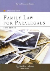 Family Law for Paralegals 6th edition 9781454816485 1454816481