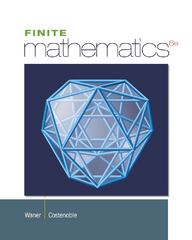Finite Mathematics 6th edition 9781133605775 113360577X