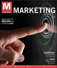 M: Marketing 3rd edition 9780078028854 007802885X