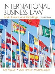 International Business Law 6th edition 9780132718974 0132718979