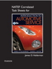 NATEF Correlated Task Sheets for Introduction to Automotive Service 1st Edition 9780132549912 0132549913