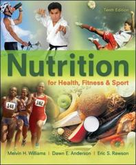 Nutrition for Health, Fitness & Sport 10th Edition 9780078021329 0078021324