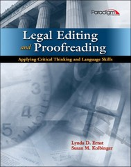Legal Editing and Proofreading with Student Resources CD and Court Is In Session DVD 1st Edition 9780763844110 076384411X