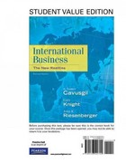 International Business: The New Realities, Student Value Edition 2nd edition 9780136090700 0136090702