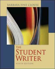 The Student Writer 9th Edition 9780073405902 0073405906