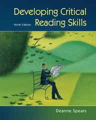 Developing Critical Reading Skills 9th Edition 9780073407326 0073407321
