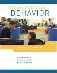 LOOSE-LEAF ORGANIZATIONAL BEHAVIOR 3rd edition 9780077524630 0077524632