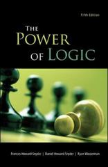The Power of Logic 5th Edition 9780078038198 0078038197