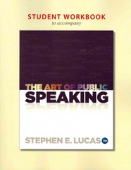 Student Workbook for use with The Art of Public Speaking 11th edition 9780077428204 007742820X