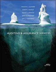 Auditing & Assurance Service w/ ACL CD 5th Edition 9780077520168 0077520165