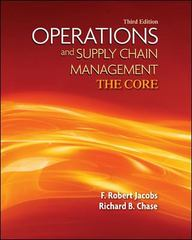 Loose Leaf Operations & Supply Chain Management: The Core with Connect Plus 1st Edition 9780077925505 0077925505