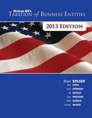 McGraw-Hill's Taxation of Business Entities, 2013 Edition 4th edition 9780077434045 0077434048