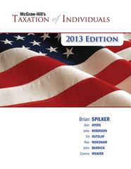 McGraw-Hill's Taxation of Individuals, 2013 Edition 4th edition 9780077434113 0077434110
