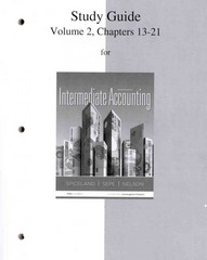 Study Guide Volume 2 for Intermediate Accounting 7th Edition 9780077446444 0077446445