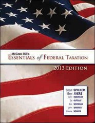 McGraw-Hill's Essentials of Federal Taxation, 2013 Edition 1st edition 9780078025785 0078025788