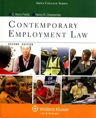 Contemporary Employment Law 2nd Edition 9781454818045 1454818042