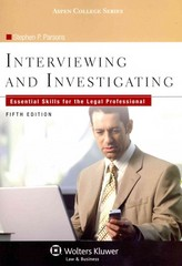Interviewing and Investigating 5th Edition 9781454818137 1454818131