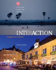 Student Activities Manual for Interaction: Langue et culture 9th Edition 9781133934431 1133934439