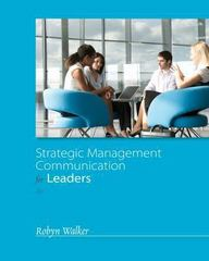 Strategic Management Communication for Leaders 3rd Edition 9781285969695 1285969693