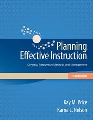 Planning Effective Instruction 5th Edition 9781133936732 1133936733
