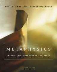 Metaphysics 2nd edition 9780534641344 0534641342