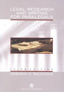 Legal Research and Writing for Paralegals 3rd edition 9780735524125 0735524122