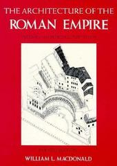 The Architecture of the Roman Empire, Volume 1 0 9780300028195 0300028199