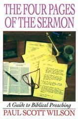 The Four Pages of the Sermon 1st Edition 9780687023950 0687023955